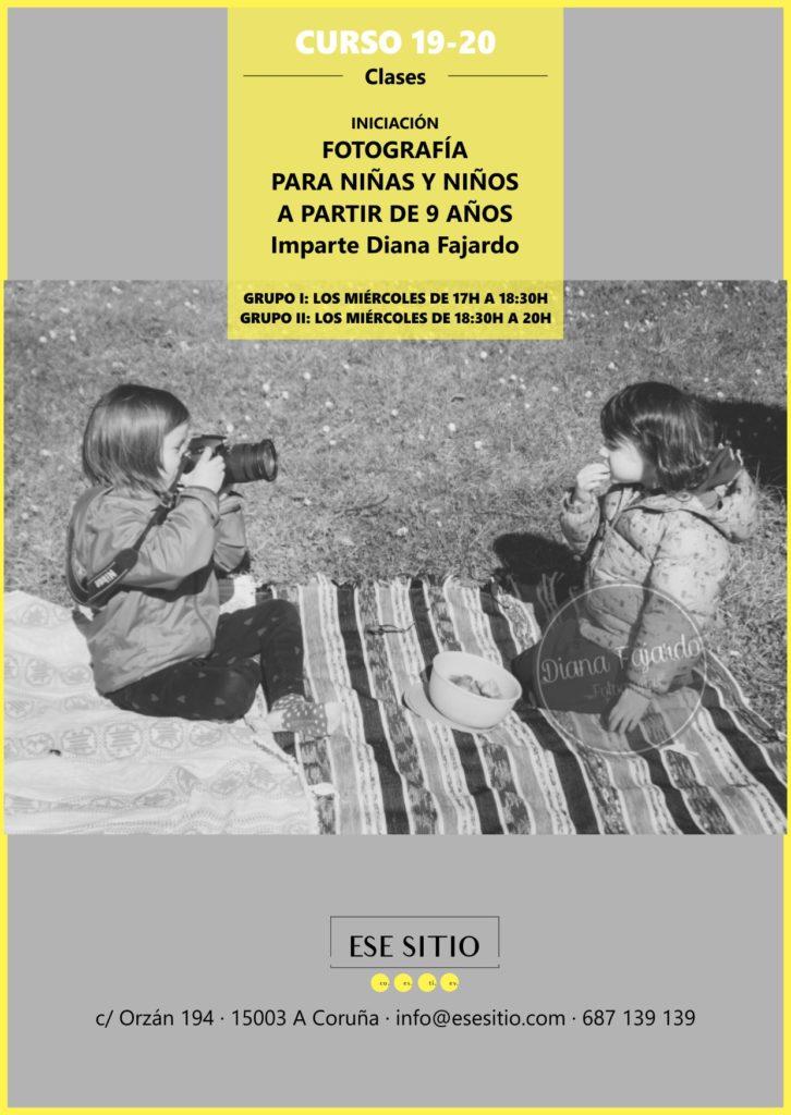 Clases de fotografia niñas  y niños en Coruña con Diana Fajardo