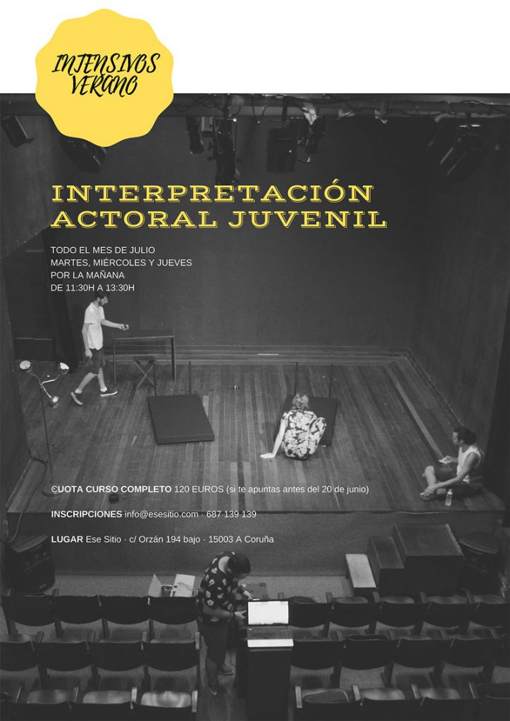 Curso interpretación actoral juvenil intensivo de verano